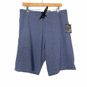 BODY GLOVE Vapor Swim Shorts Trunks Sz 34 Blue